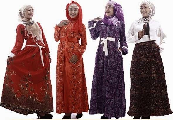 Model Terbaru Baju Batik Gamis Modern Trend Model Dan
