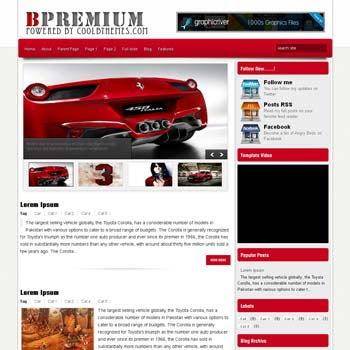 BPremium blogger template. template blogspot free