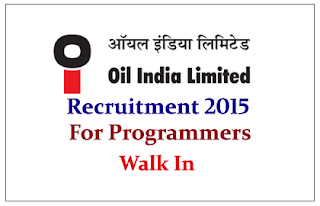 Oil India Limited Recruitment 2015 for the post of Programmers