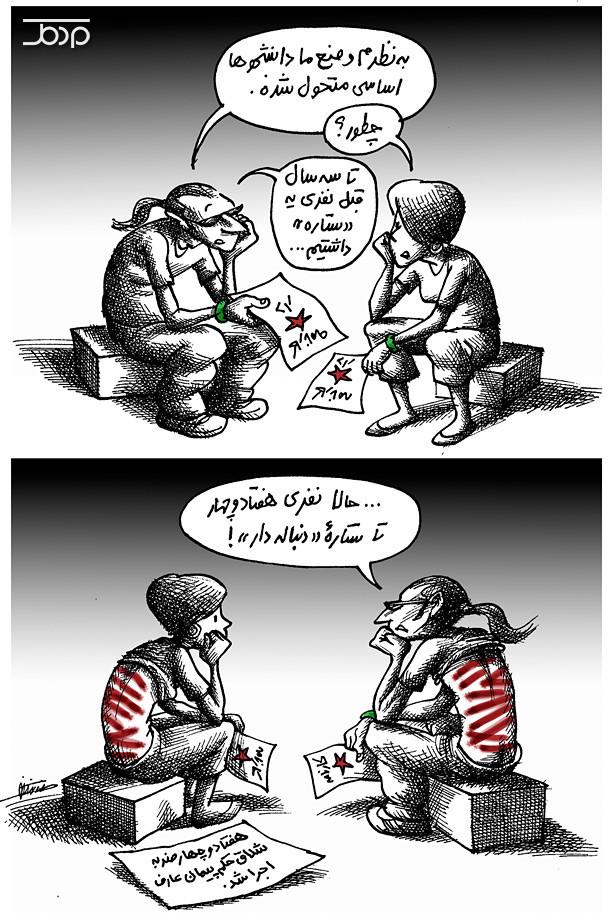 شلاق ، دانشجو ، جمهوری اسلامی ، شکنچه گر ، کارتون ، کاریکاتور
