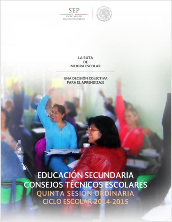 Guía de la 5ta Sesión Ordinaria del CTE ~ Secundaria
