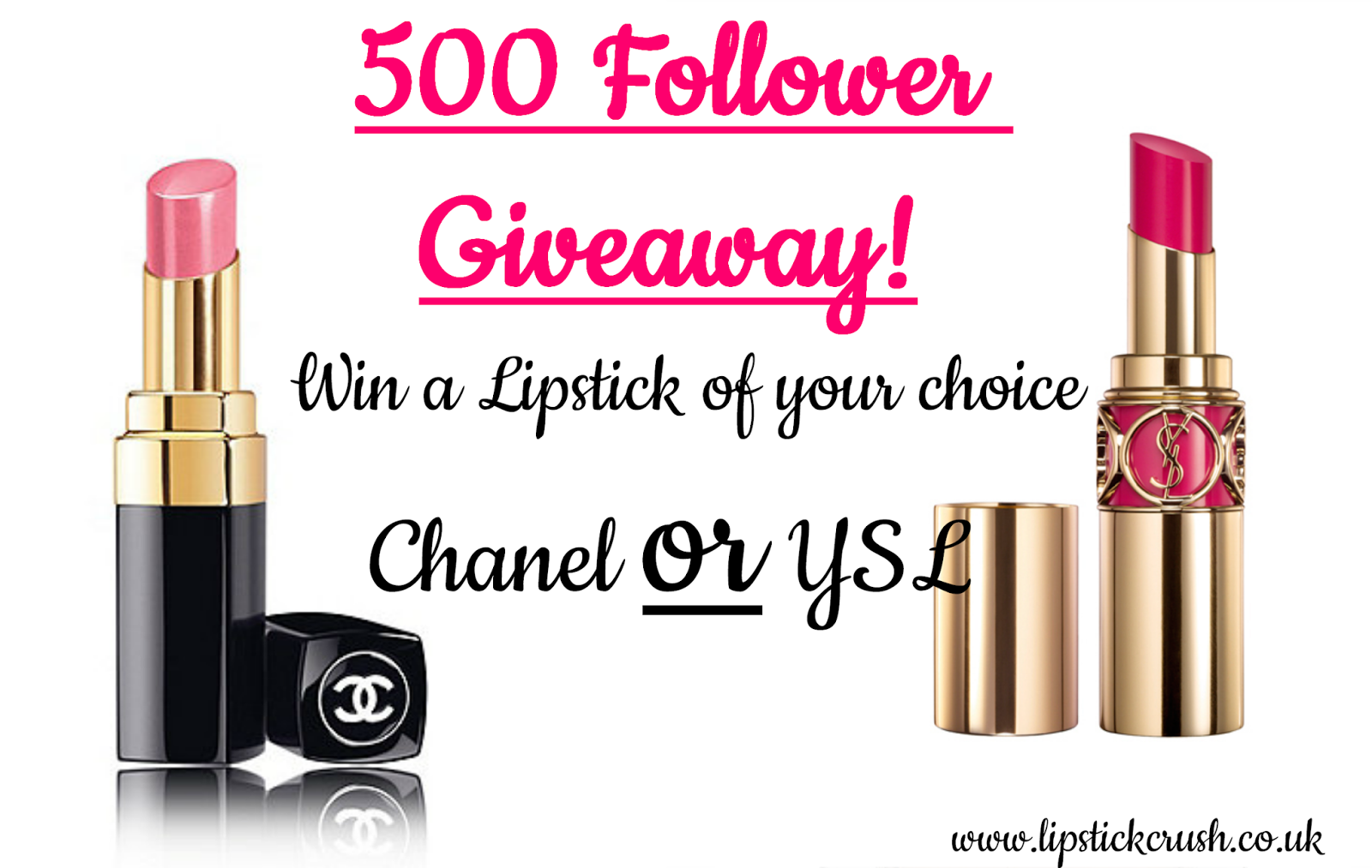 chanel ysl lipstick giveaway