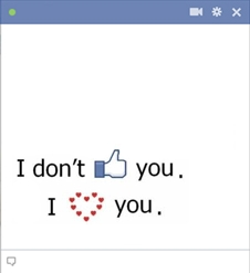 Don't Like You But Love You Emoticon