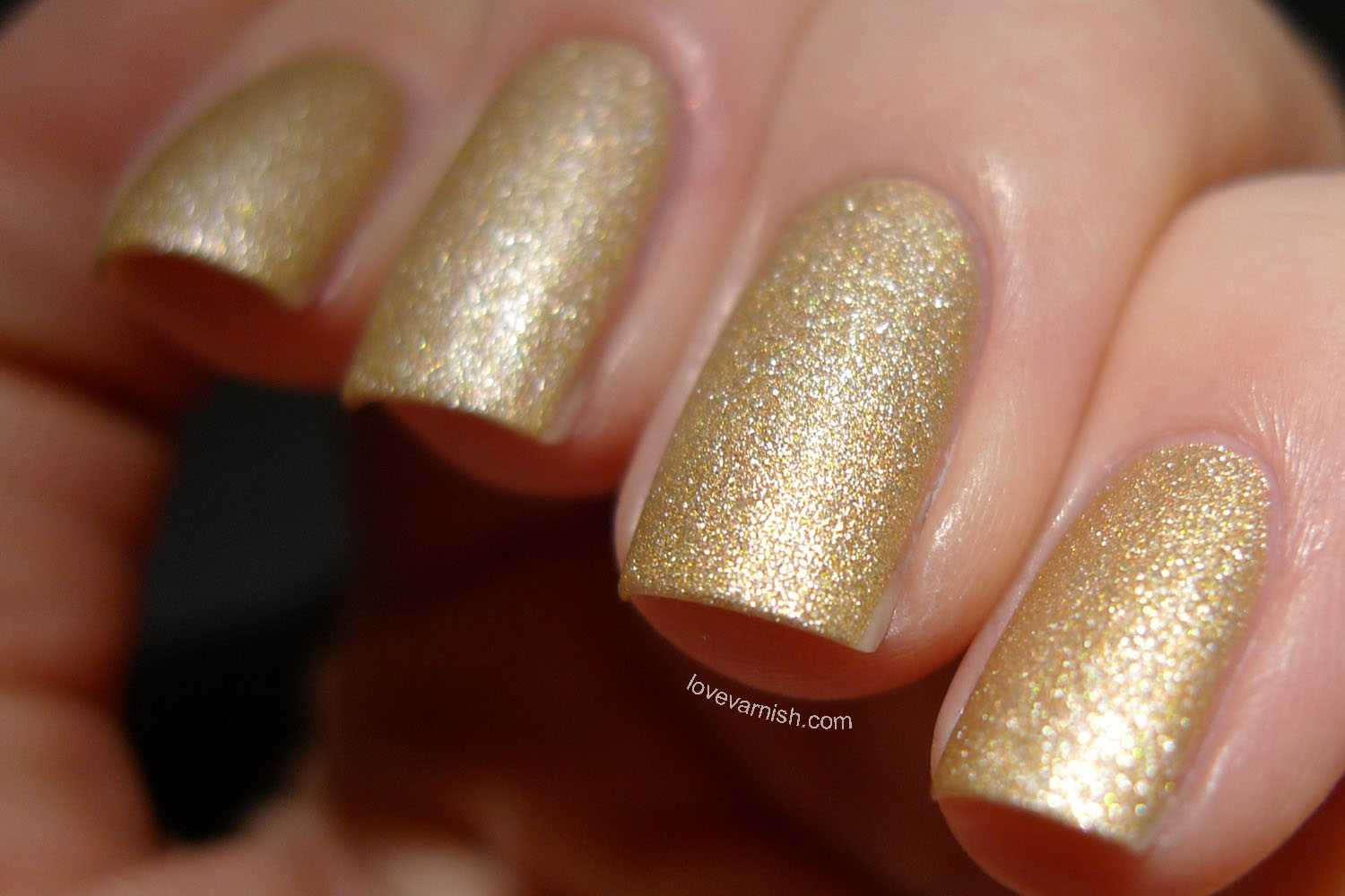 OPI x Gwen Steafni Love. Angel. Music. Baby. golden satin finish polish