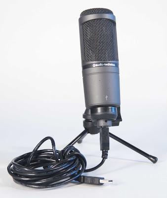 микрофон AT2020 USB для создания (записи) аудио уроков