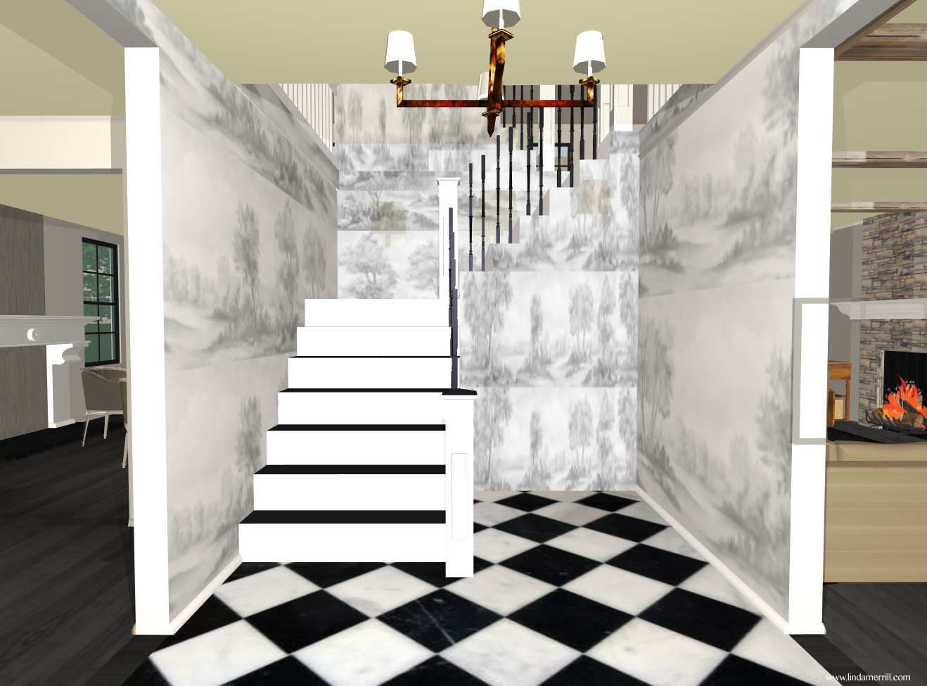 Home design interior: linda's dream house: roof lines and the foyer