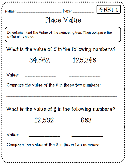 Common Core Standards Math Worksheets - Thimothy Worksheet