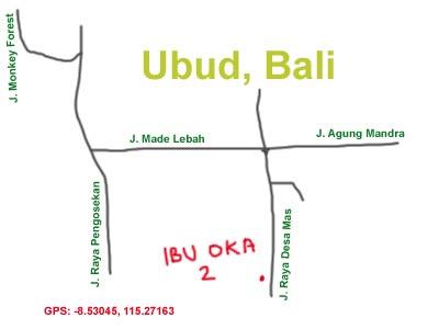 Mapa Ibu Oka Ubud