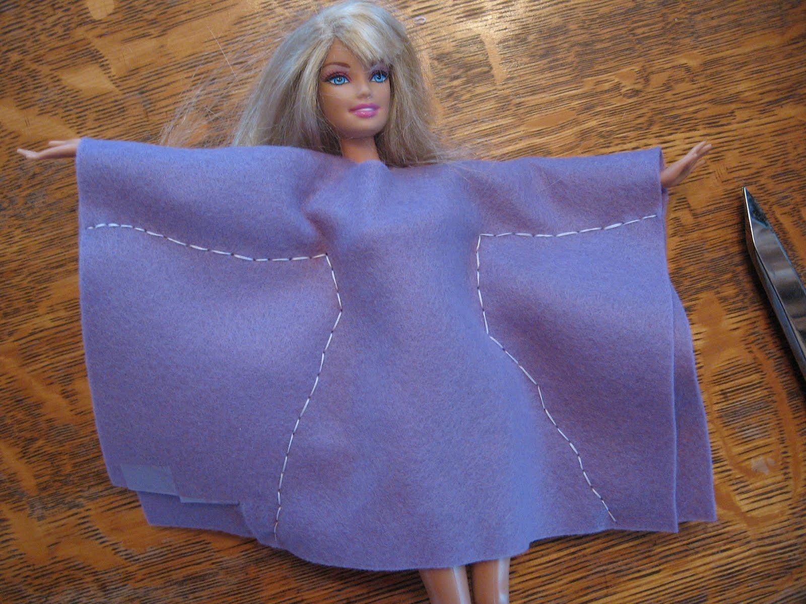 Как сделать кукле платье своими руками для барби