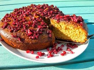 Recipe of the week: Tahini Pomegranate Cake