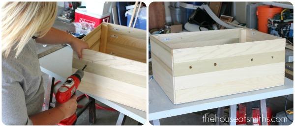 Ящик для игрушек своими руками из деревянного ящика 689
