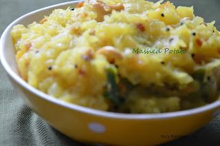 mashed potato, masala dosa filling, potato masala