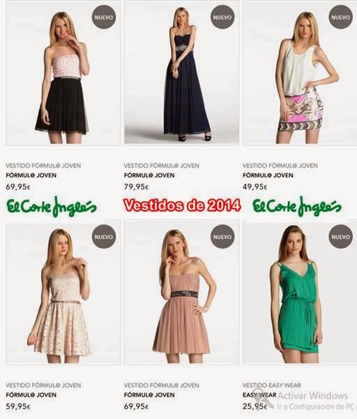 vestidos de moda el corte ingles 2014