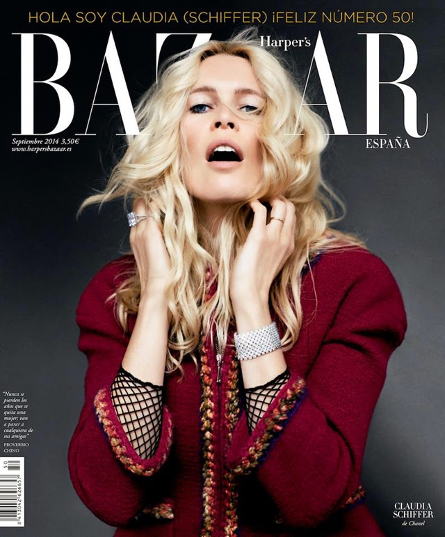 Claudia Schiffer Harper's Bazaar Spain