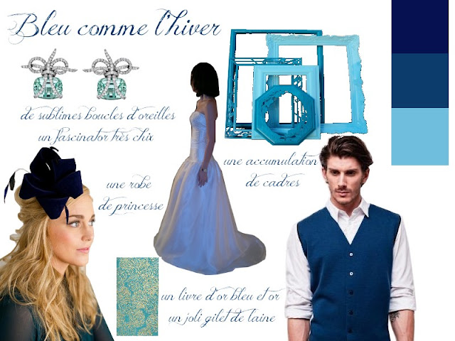 panneau d'inspiration mariage bleu betteridge preston and olivia olivier portais paper source etsy
