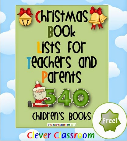 FREE Christmas book list with 540 book titles, this is a keeper, must download!