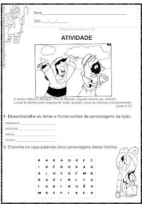 Débora - Atividade Bíblica