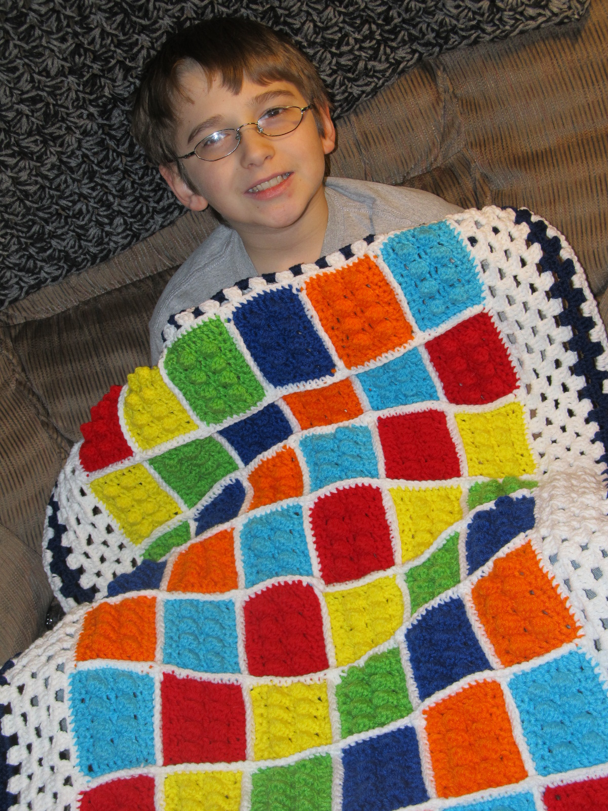 Crochet Lego Blanket : Simply Crochet and Other Crafts: Lego Blanket!