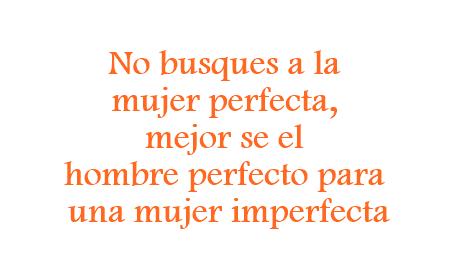 El hombre perfecto para la mujer imperfecta