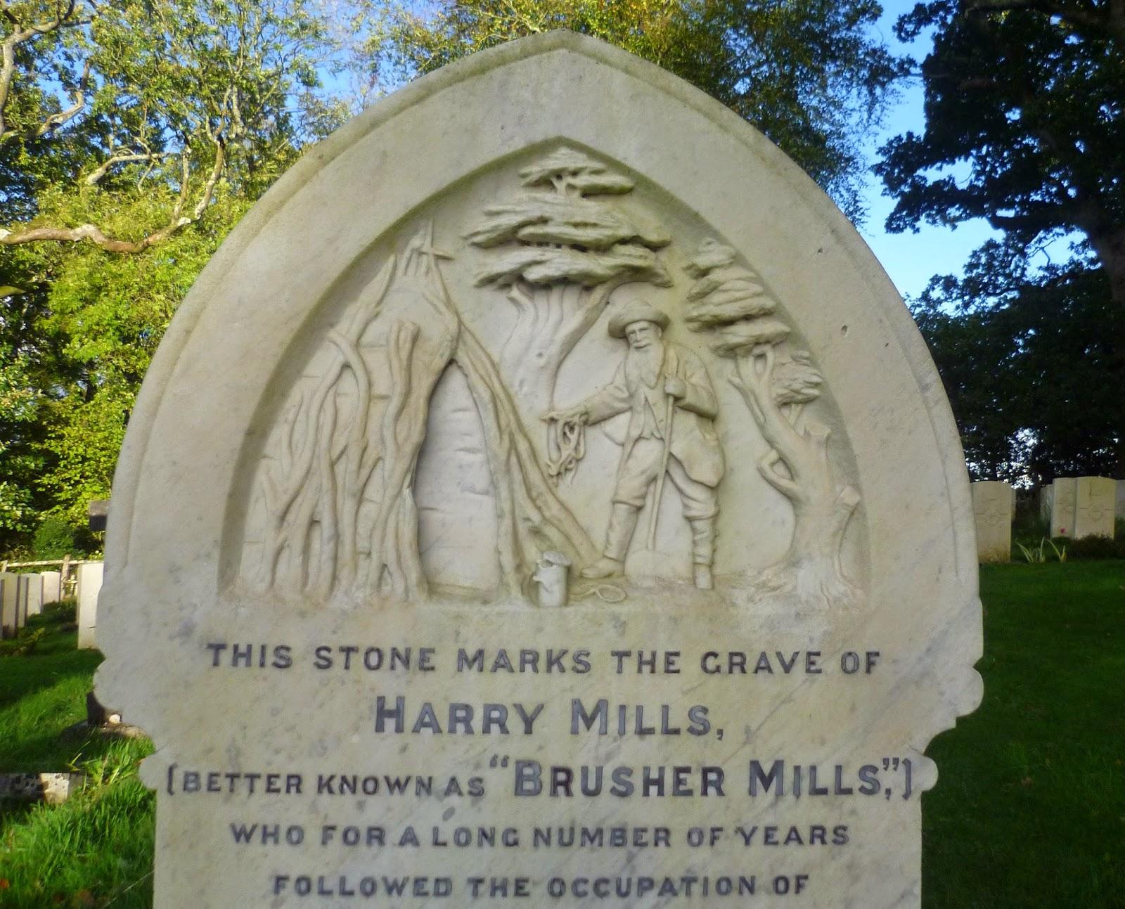 Brusher Mills Gravestone