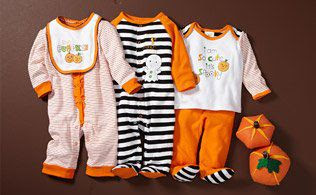 Witches, Pumpkins + Monsters: Baby Costumes