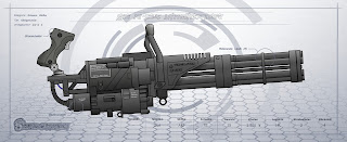 MAU-201/A unit Minigun - Gatling type machine gun Multi barrel firearm