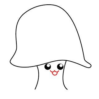 How To Draw A Kawaii Mushroom Step 4