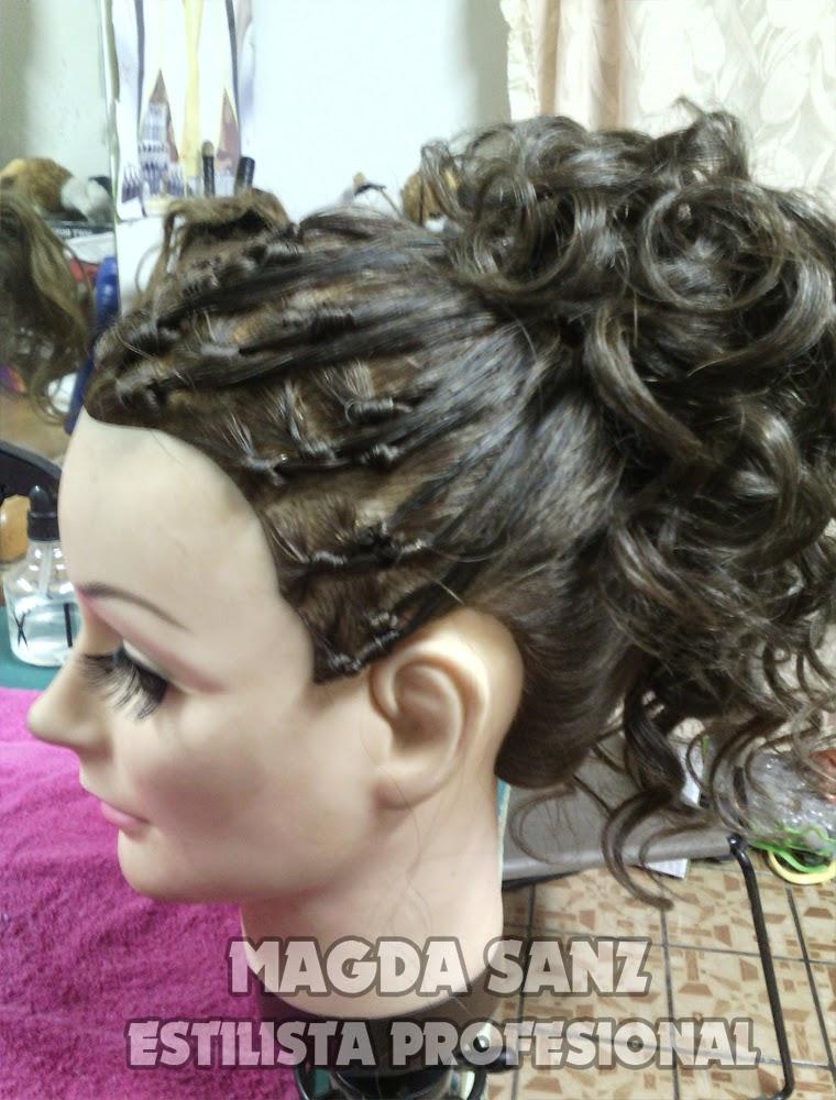 Peinados con torcidos y bucles