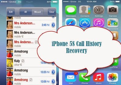 iphone 5s call history recovery
