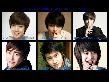 MY FAVOURITE KPOP ARTISTS (MALE)
