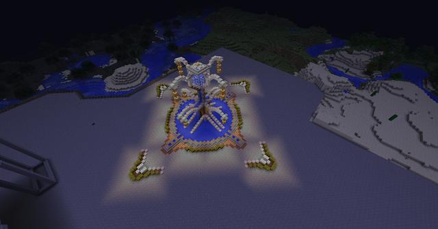 la fontaine lampion minecraft - Lampadaire Minecraft