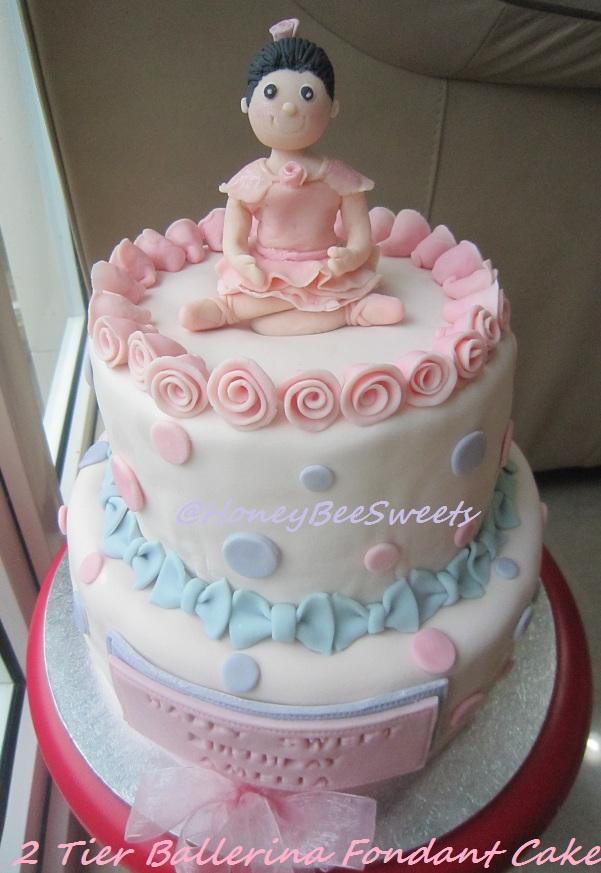 Ballerina Fondant Birthday Cake By Honey Bee Sweets Foodblogs