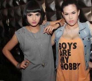 Foto Metha Meva dan DJ Irene Guerrero
