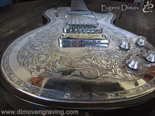 Гравиране на китара Gibson
