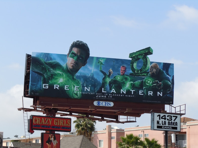 Green Lantern Corps movie billboard