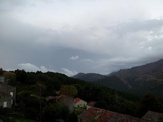 Aullène en Alta Rocca sous la pluie