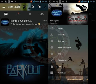 Apps BBM Mod Parkour Themes New v2.11.0.18 Apk