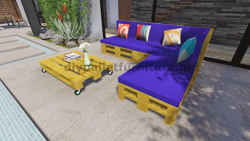 Instrucciones y planos en 3d de como - Como hacer un sofa con palets ...