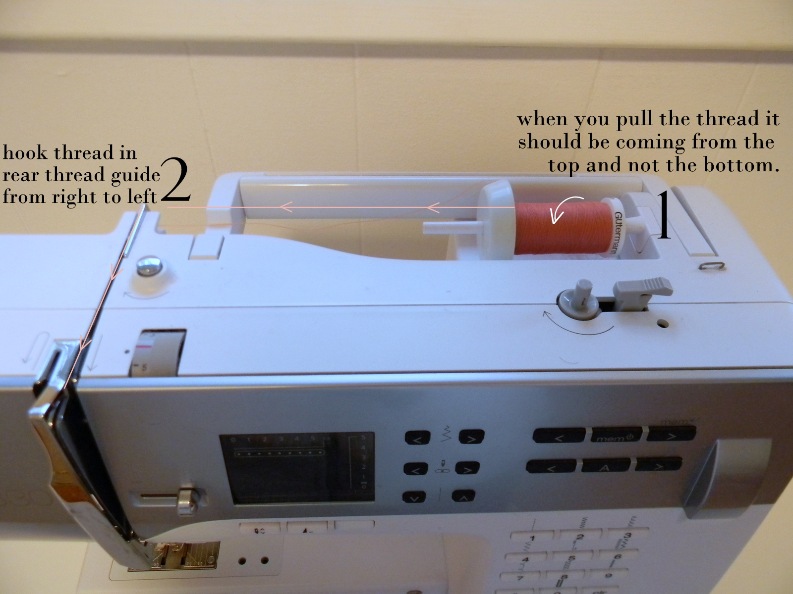 how to put thread on a sewing machine
