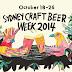Sydney Craft Beer Week October 18-26th 2014