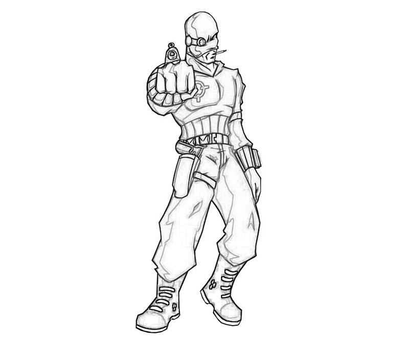 deadshot coloring pages Batman Arkham City Deadshot Character | How Coloring deadshot coloring pages