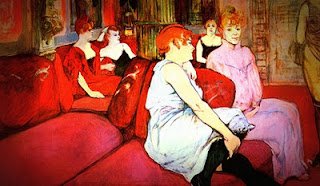 Au Salon de la rue des Moulins, Toulouse Lautrec, 1894
