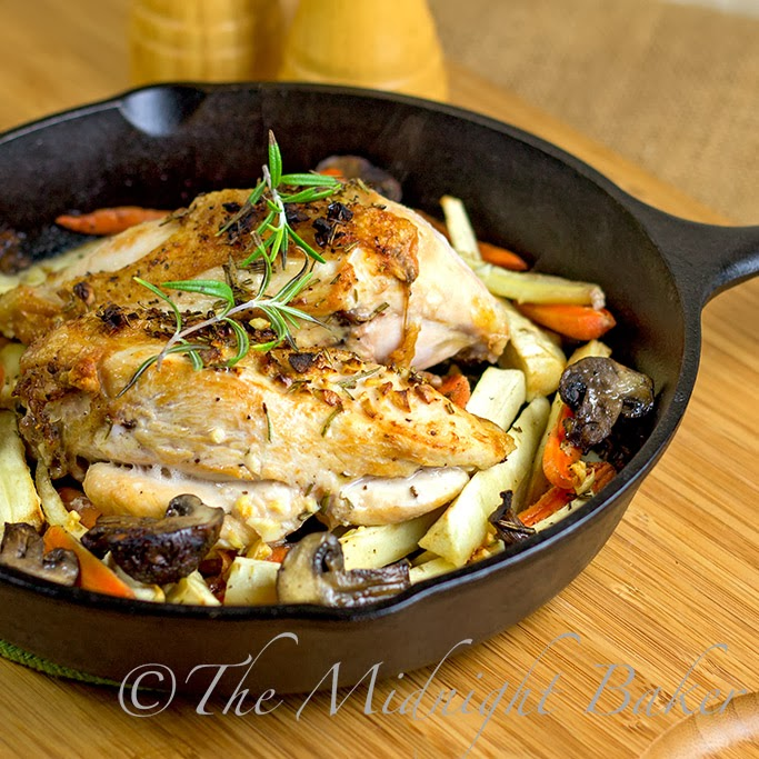 Roasted Rosemary Chicken and Vegetables - The Midnight Baker