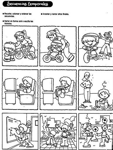 Dibujos De Secuencias Para Ninos