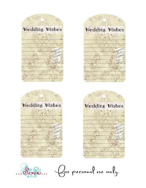 Wedding Wish List Template : weddings4less.ie: Free wedding printables
