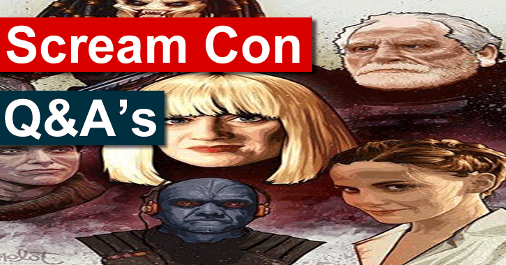 ScreamCon - Interviews with Sherlock, Guardians of the Galaxy, Game of Thrones and Red Dwarf Stars