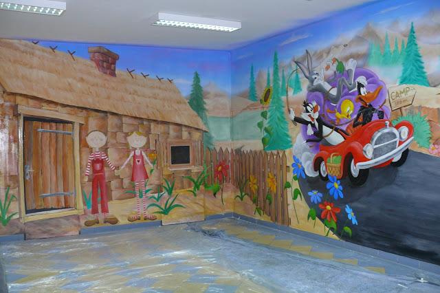 Malowanie obrazu sciennego w pokoju dziecka, inspiracja pokoi dziecięcych, Lublin