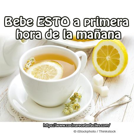 agua, limón,