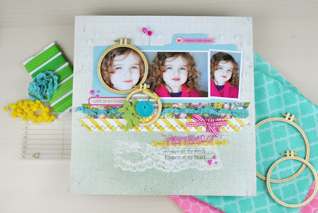 Product Playground: #scrapbooking class on how to use rub-ons and ribbons on a scrapbooking layout. http://www.bigpictureclasses.com/classes/product-playground-rubons-ribbons