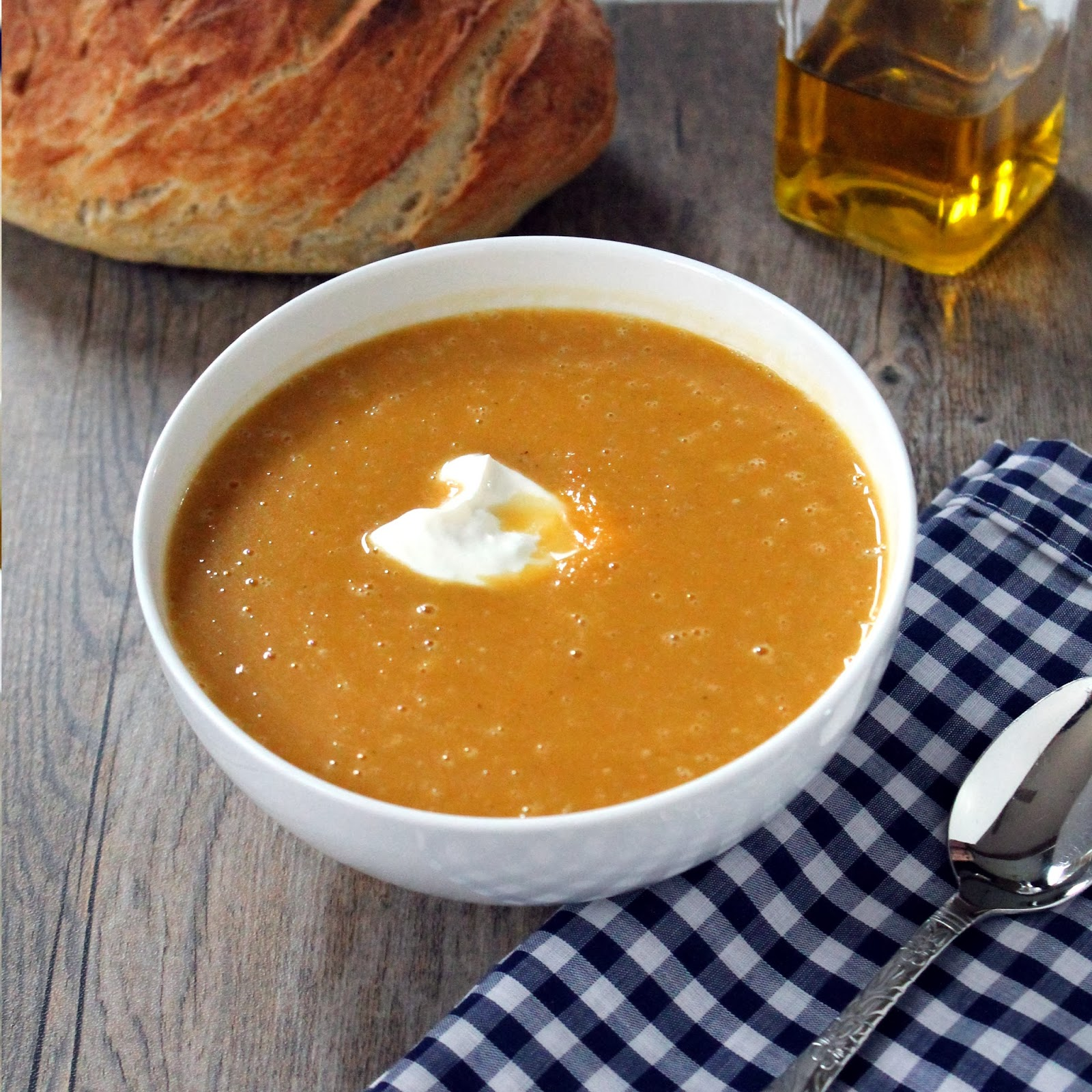 10. Once the soup has been pureed, stir in the heavy cream and serve ...